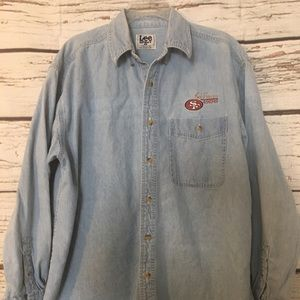 Lee Sport SF 49'r Chambray Shirt, EUC!